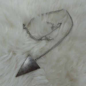Silver Necklace with a Triangle Pendant
